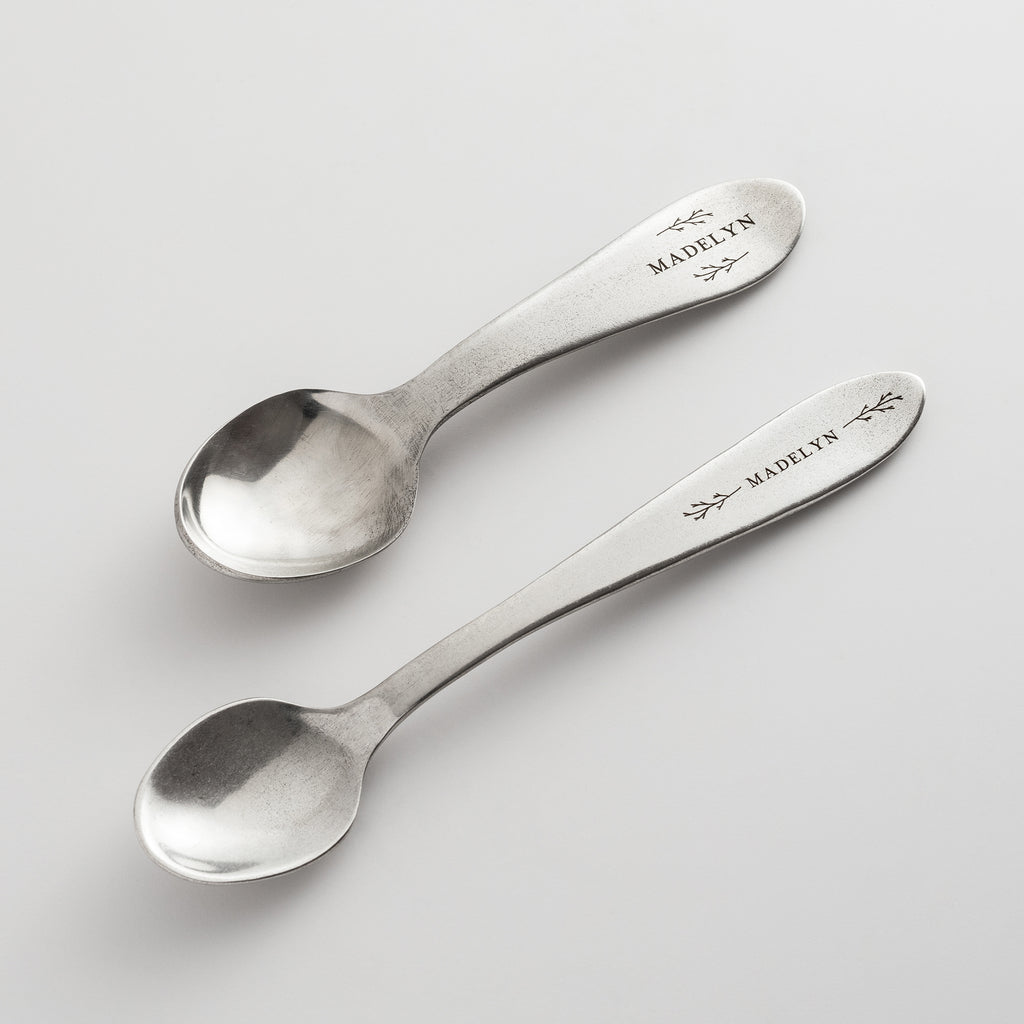 Personalized Heirloom Baby Spoons - Botantic
