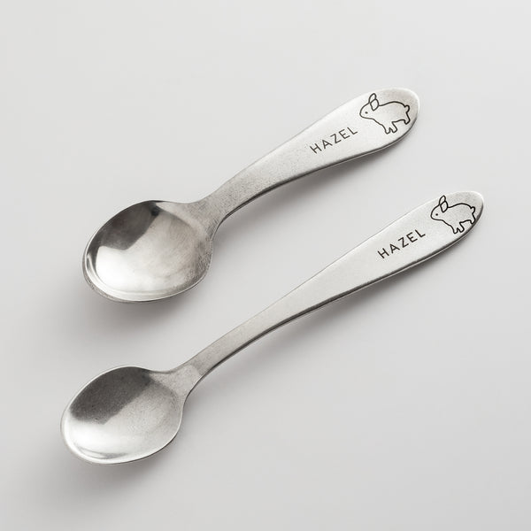Personalized Heirloom Baby Spoons - Bunny