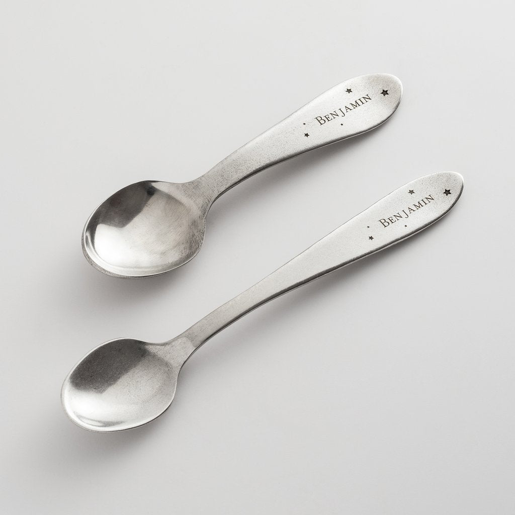 Personalized Heirloom Baby Spoons - Constellation
