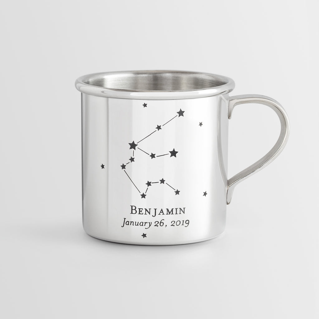 Personalized Heirloom Baby Cup - Constellations
