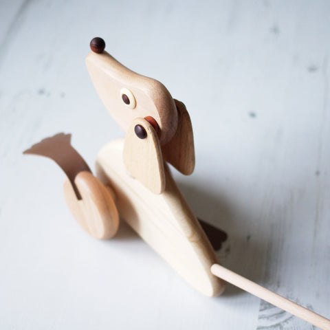 Push along wooden toy