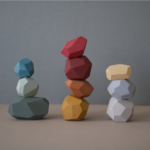 Balancing stones - Earthy colours - Happy Little Folks