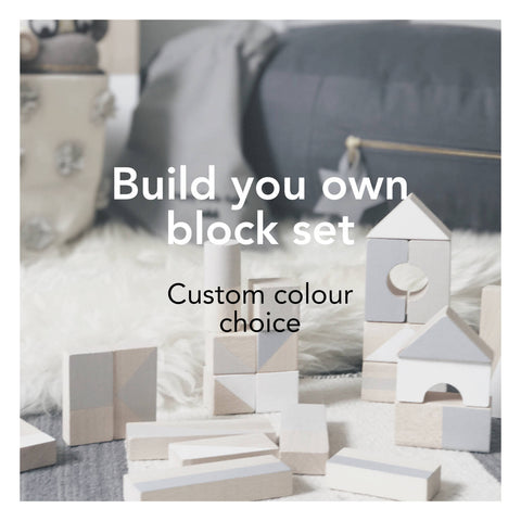 Wooden building blocks - Custom colour choice - Happy Little Folks