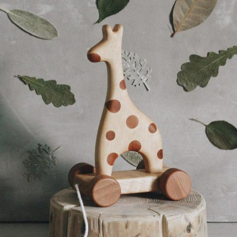 Giraffe on wheels - Happy Little Folks