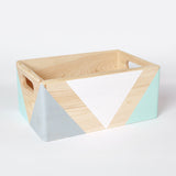 Geometric wooden box with handles - Happy Little Folks