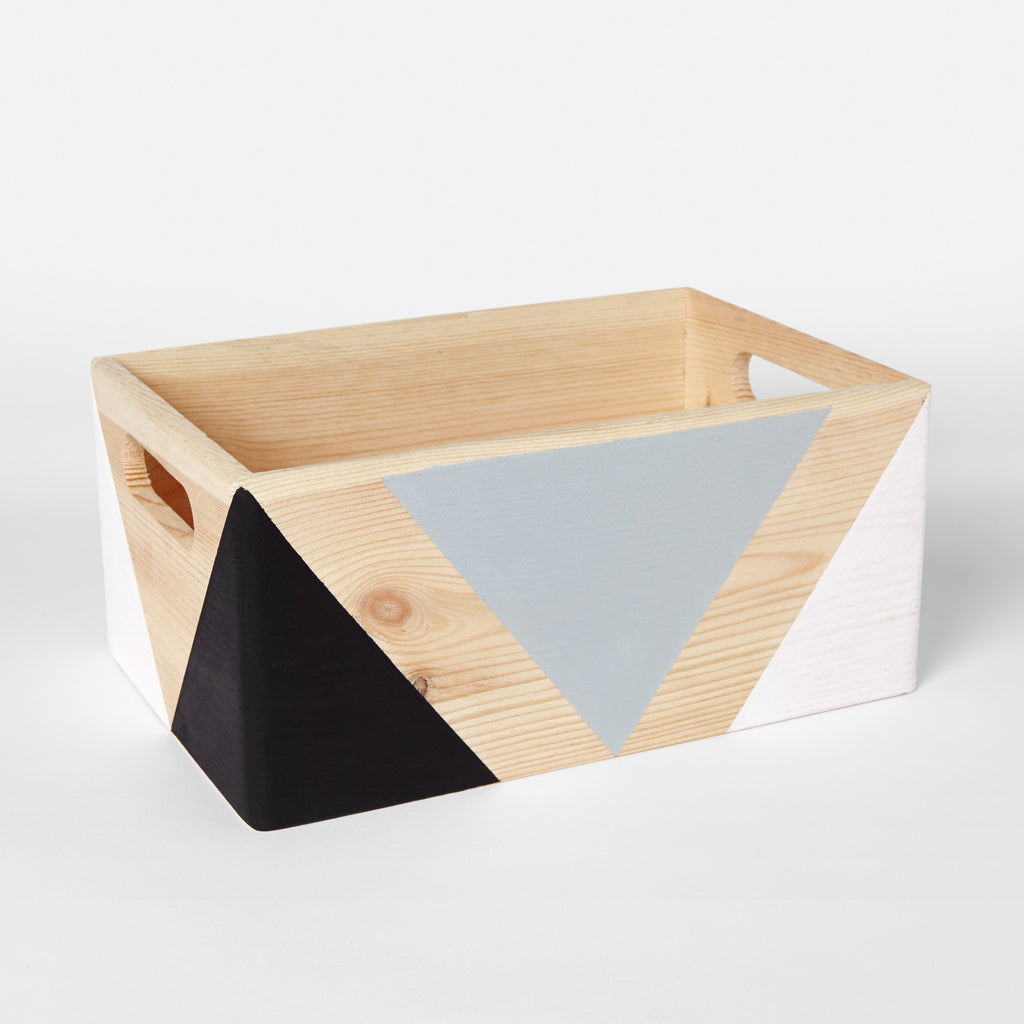... Geometric Wooden Box With Handles   Happy Little Folks ...