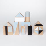 Wooden building blocks - Winter colours - Happy Little Folks