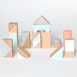 Wooden building blocks - Pastel colours - Happy Little Folks