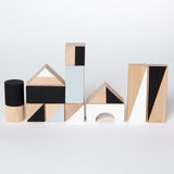 Wooden building blocks - Monochrome - Happy Little Folks