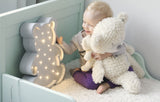 Bear LED lamp by Little Lights - White - Happy Little Folks