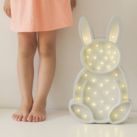 Bunny LED lamp by Little Lights - White - Happy Little Folks