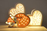 Fox LED lamp by Little Lights (red or grey)