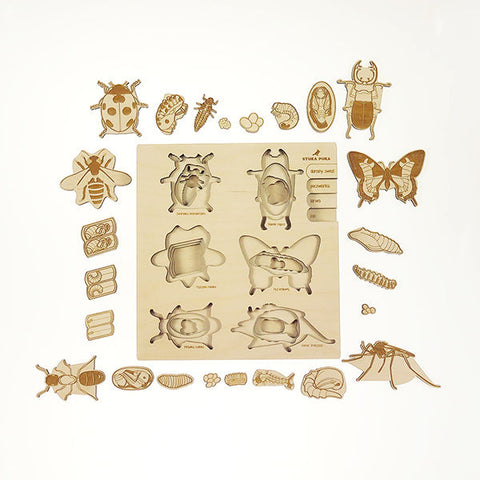 Wooden puzzle - Insects - Happy Little Folks