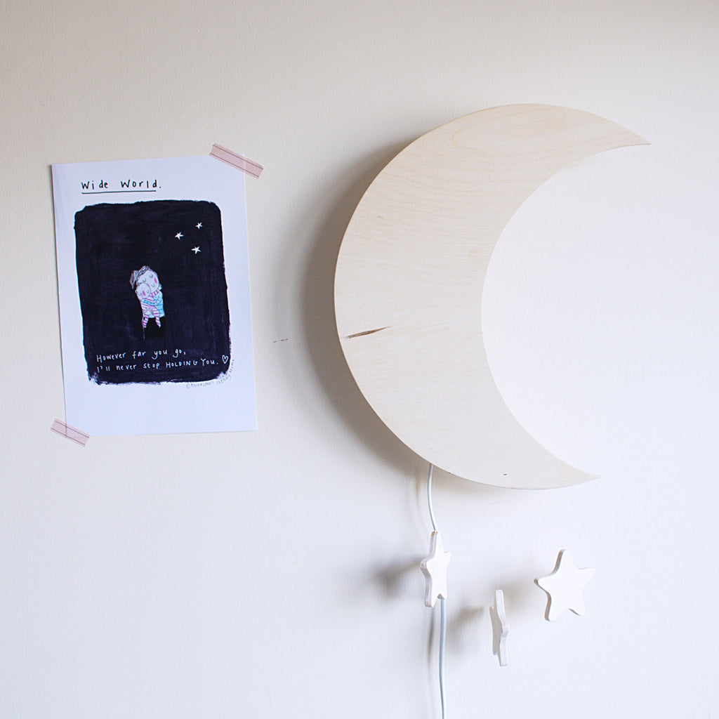 Moon & stars wall light - Happy Little Folks