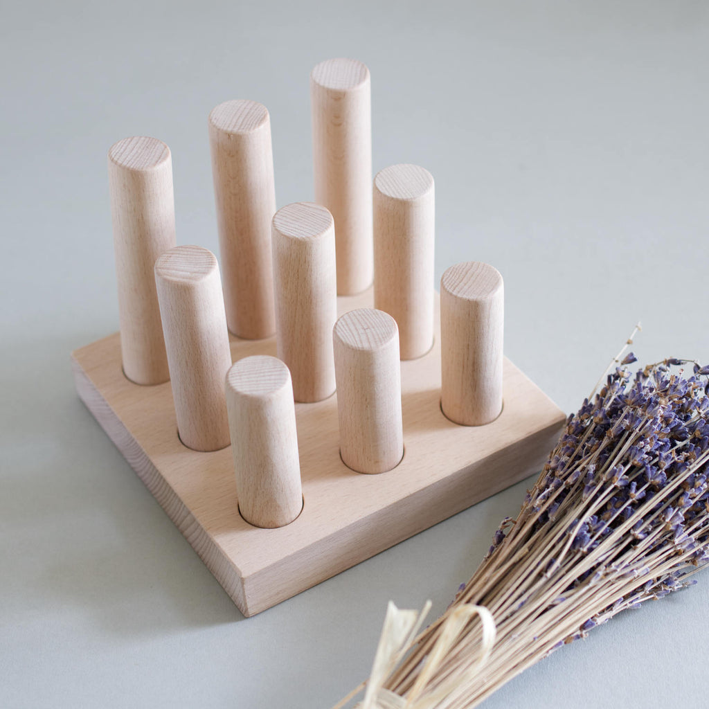 Wooden peg sorter - Natural - Happy Little Folks