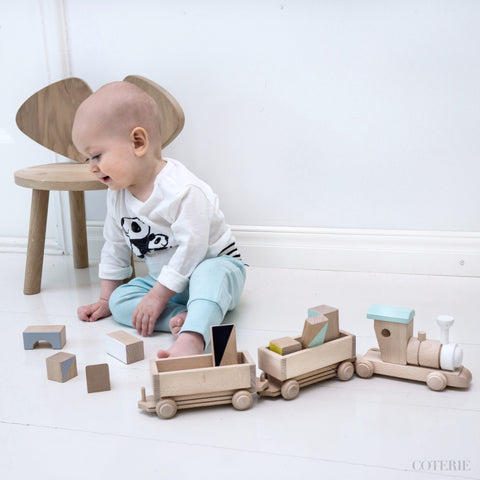 Wooden train set - custom colour choice - Happy Little Folks