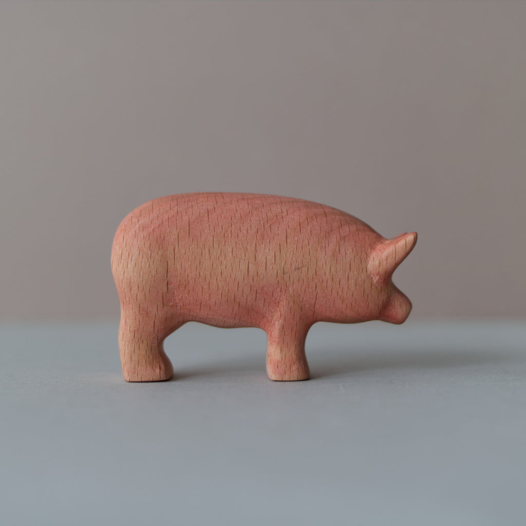 Wooden Pig toy - Happy Little Folks