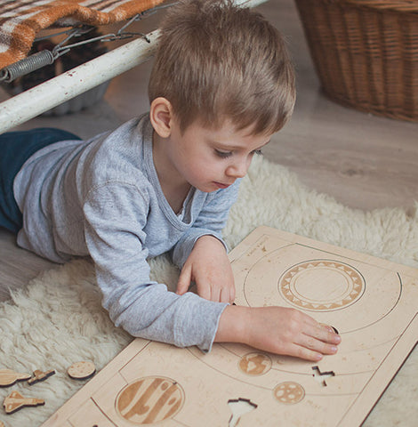 Wooden puzzle - Solar System - Happy Little Folks