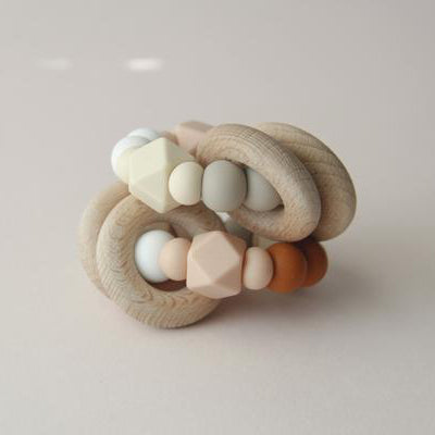 Silicone + Wood Ring Toy - Nash - Happy Little Folks