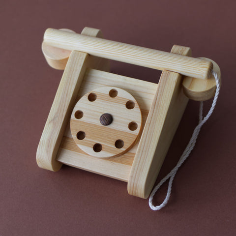 Wooden telephone - Happy Little Folks