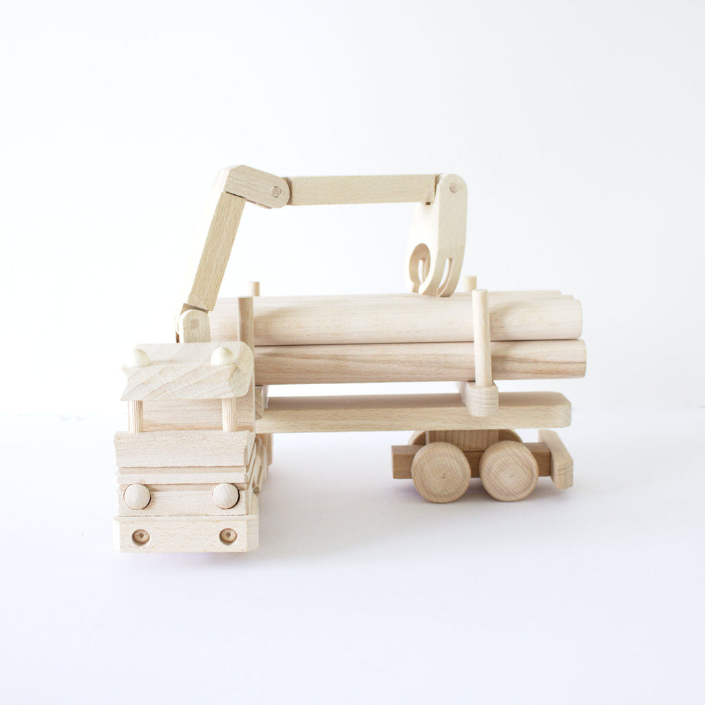 Wooden log truck 2 - Happy Little Folks