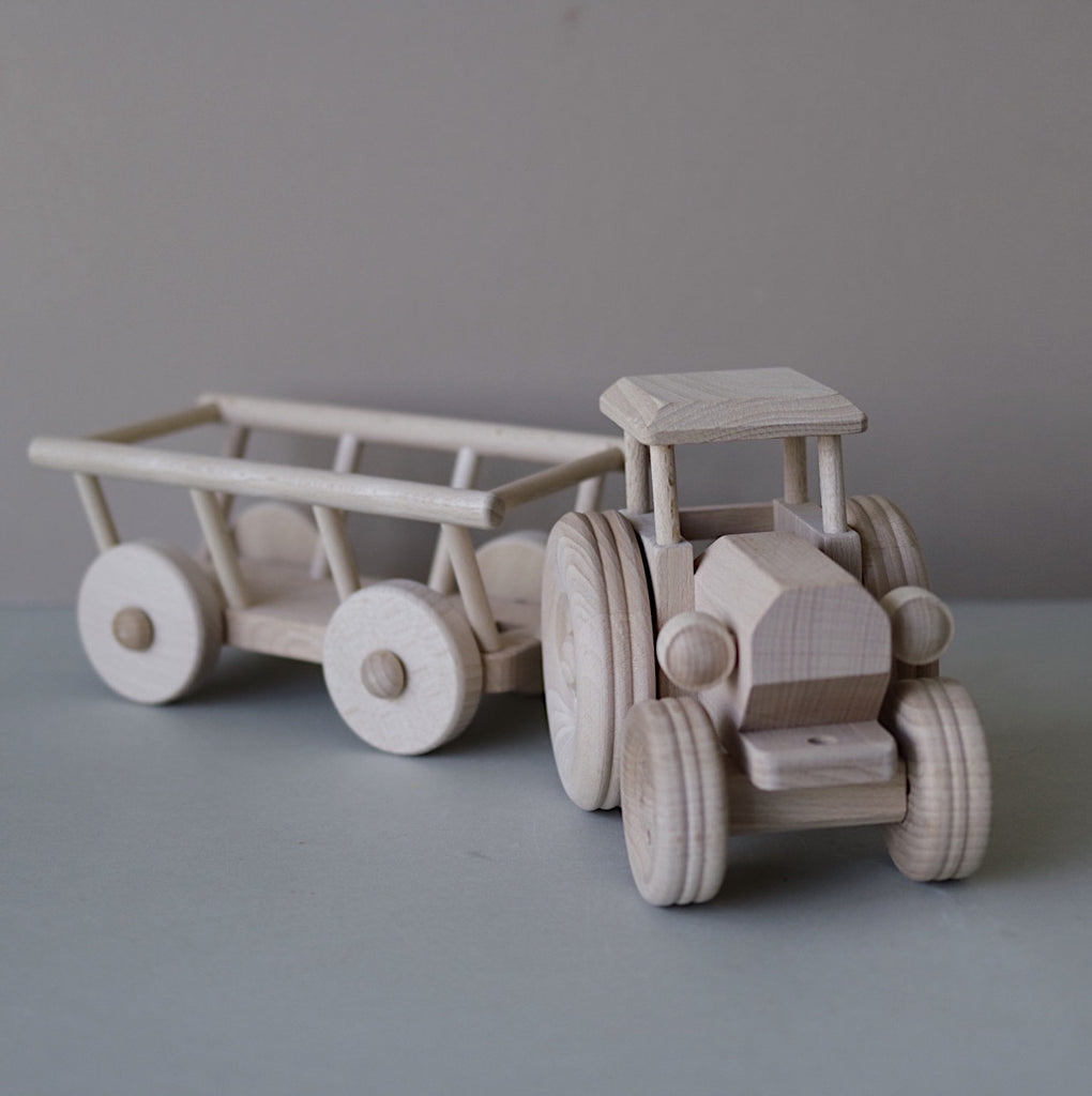 Wooden tractor - Luxe edition - Happy Little Folks
