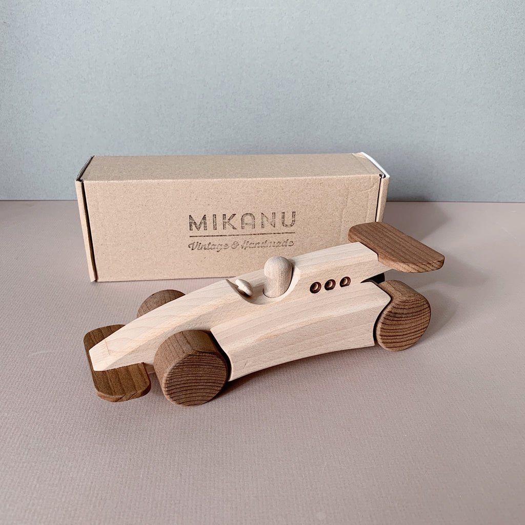 MIKANU wooden racing car - Limited Edition - Happy Little Folks