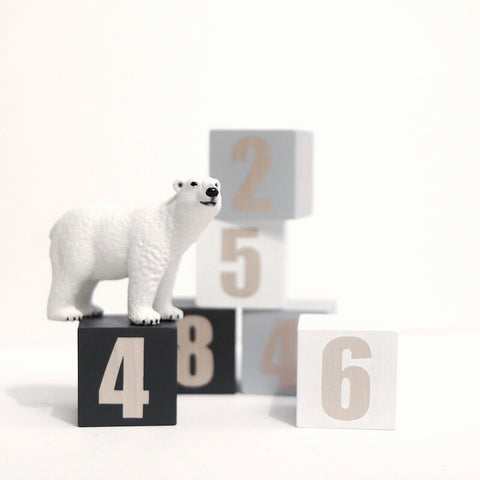 Wooden number cubes - happylittlefolks - 1