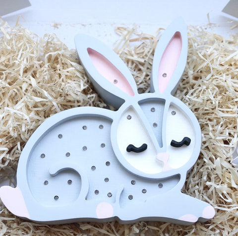 Rabbit LED lamp by Little Lights - Grey - Happy Little Folks