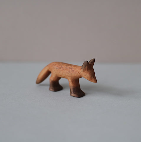 Wooden Fox cub toy