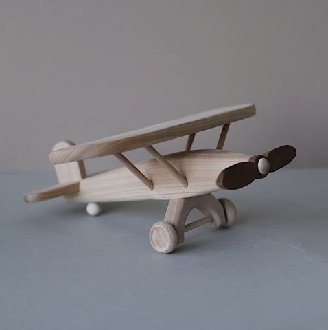 Wooden biplane  - Luxe edition - Happy Little Folks