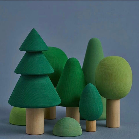 Wooden trees set - Raduga Grez - Happy Little Folks