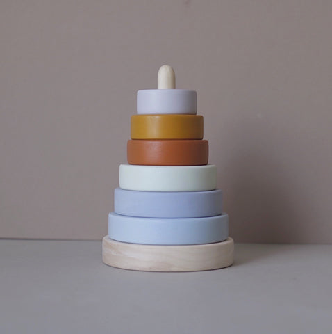 Wooden stacking pyramid - Custom colour choice