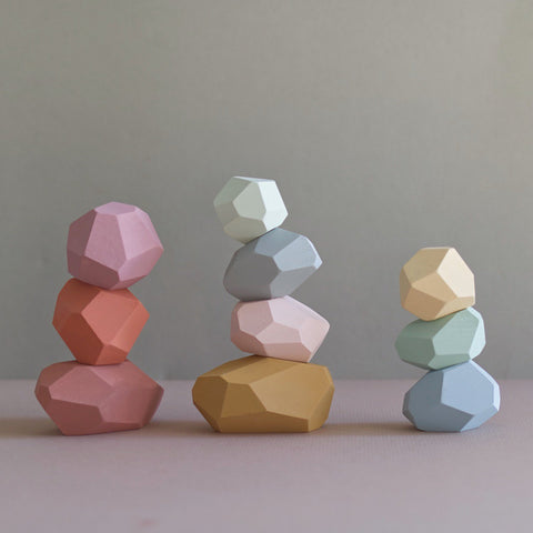Balancing stones - Pastel colours - Happy Little Folks
