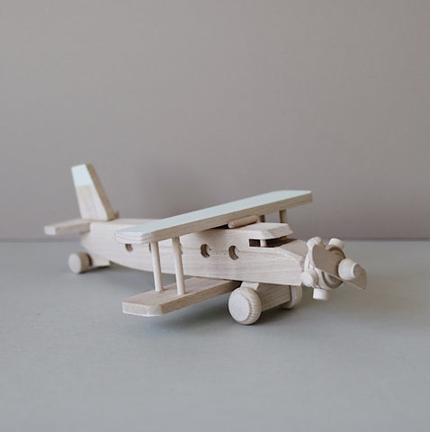 Wooden biplane  - Custom colour choice - Happy Little Folks