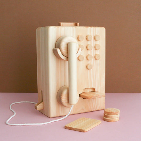 Wooden pay phone