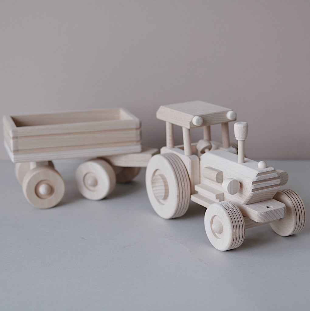 Large wooden tractor PRE ORDER - Happy Little Folks