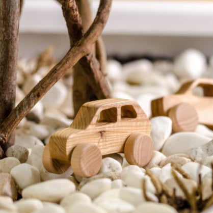 Wooden car toy - Fiat - Happy Little Folks