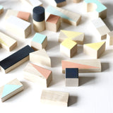 Wooden blocks - Mixed colours - 24 pieces - Happy Little Folks