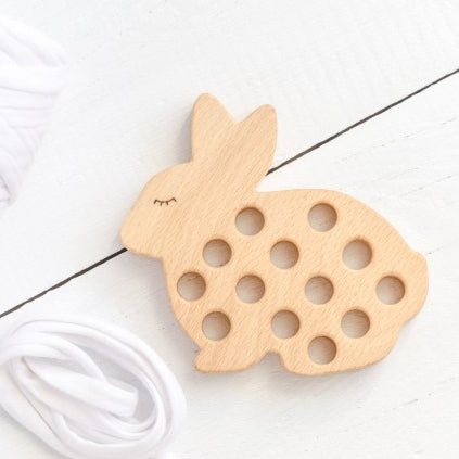 Wooden lacing toy - Rabbit - Happy Little Folks