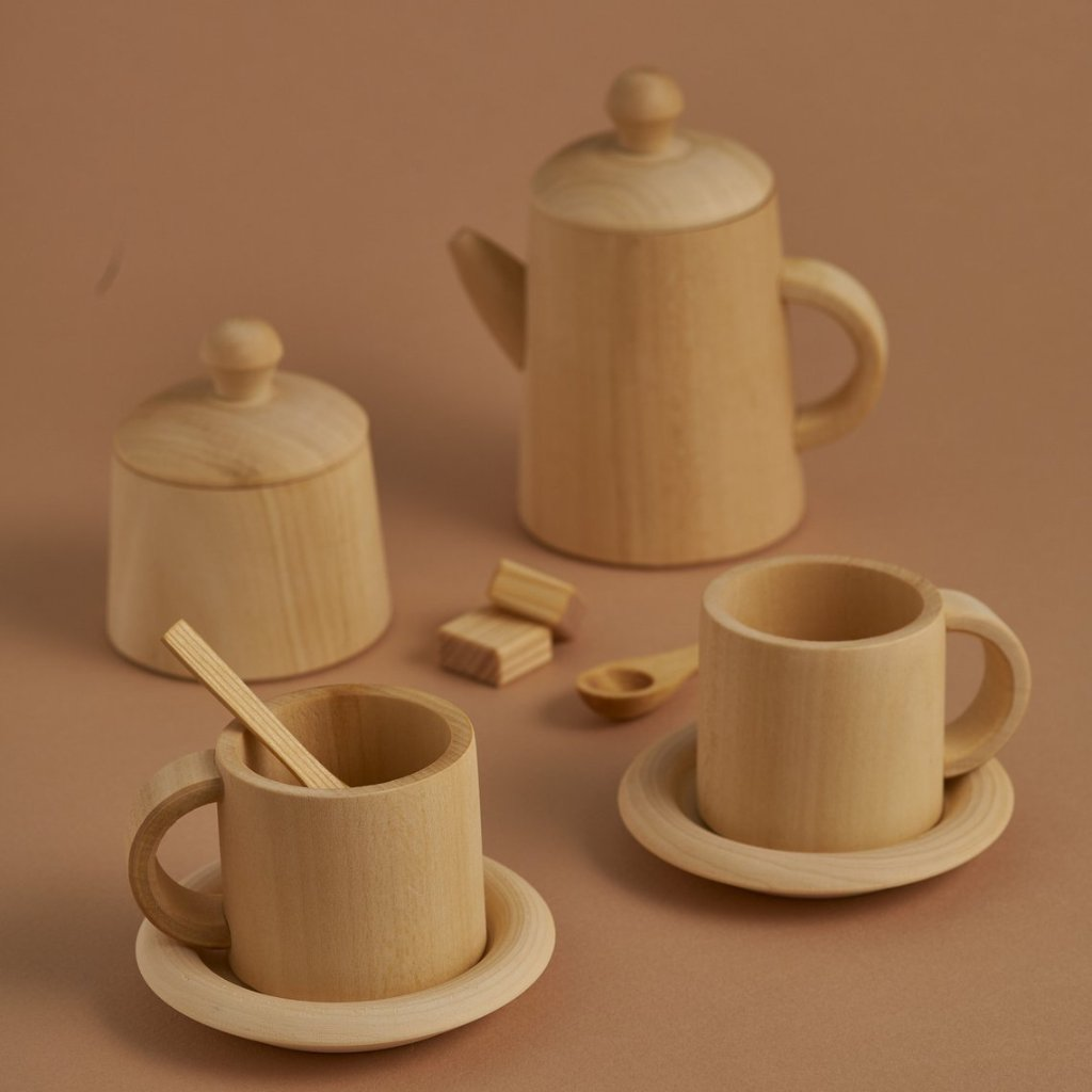 Natural Wooden Tea Set - Raduga Grez - Happy Little Folks