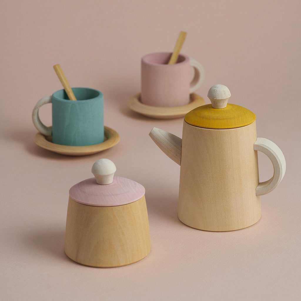 Pastel Wooden Tea Set - Raduga Grez - Happy Little Folks