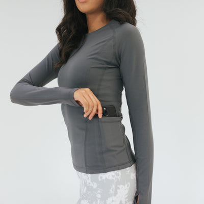 Accelerate Long Sleeve 2 - Cool Gray