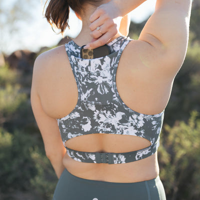 Perfect Pocket Sports Bra - Botanical Fern Green