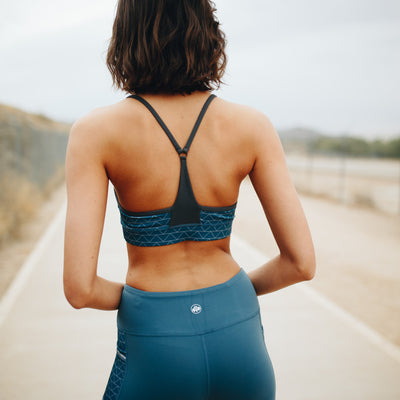 Lotus Sports Bra - Blue Geo