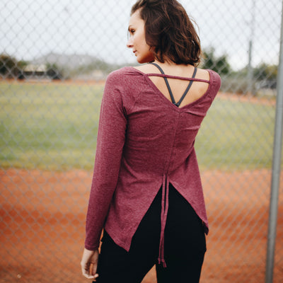 Freedom Long Sleeve - Maroon