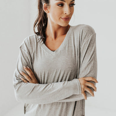 Boyfriend Long Sleeve - Gray