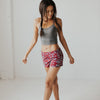 Shortie Running Shorts - Mulberry Lotus