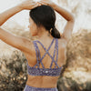 Strappy Sports Bra - Purple Web