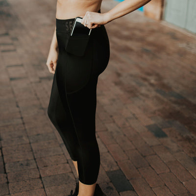 Elite High Waisted Capris - Black